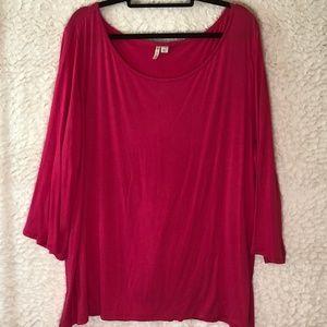 Cato Pink Blouse/Tunic 22/24 spandex rayon